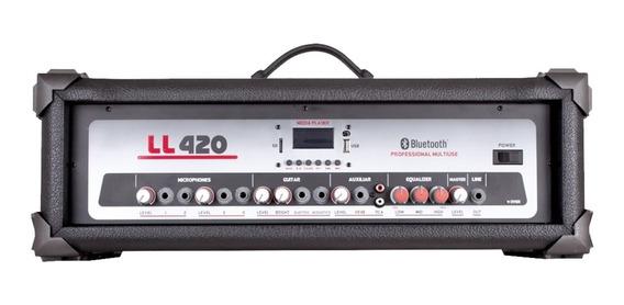 Cabeçote Amplificador 4 Canais 100w Rms Ll420usb Ll Áudio