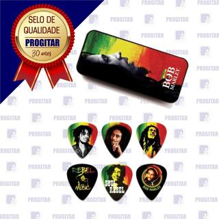 Palhetas Dunlop Bob Marley Rasta Lata Com 6 Unidades (heavy)