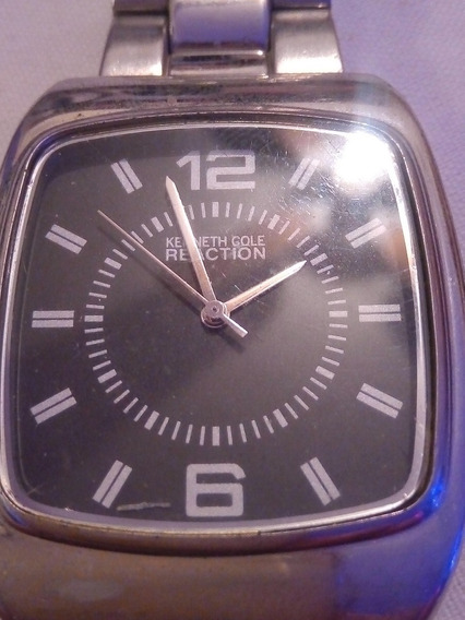 Reloj Kenneth Cole Reaction Cuadrado Excelente