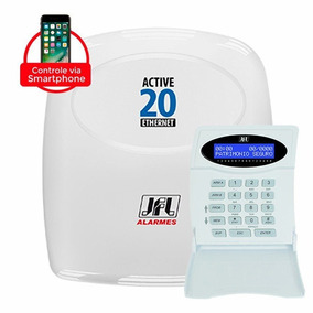 Central Alarme Jfl Active 20 Ethernet 9 Sensores Bateria