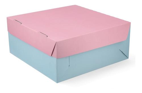 25 Cajas Para Tortas Pastelería (25x25x11cm) Varios Colores