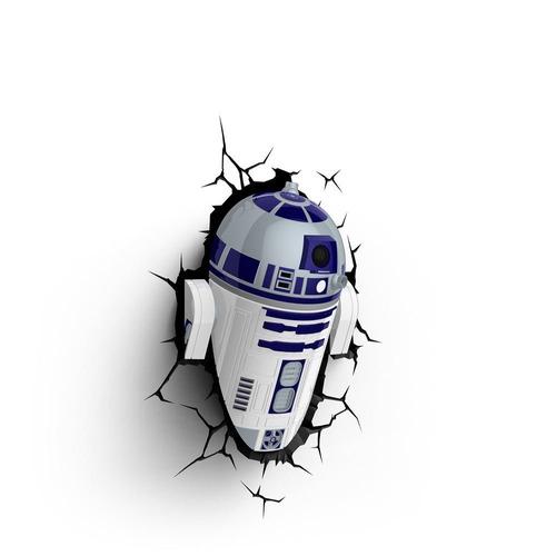 Star Wars Lámpara Decorativa De R2-d2 Para Instalar En Pared