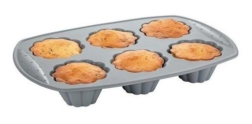 Forma Assadeira Bolo Cupcake Muffins Silicone Livre Bpa