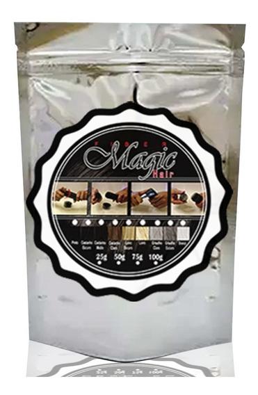 Refil Magic Hair 200g - Queratina Fibra+ Frasco Toppik Vazio