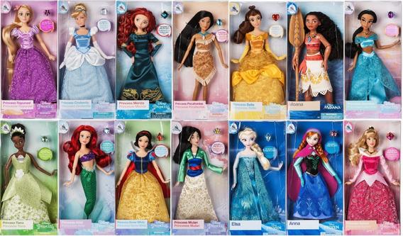 6 Bonecas Disney Store Originais Princesas Monte Seu Kit