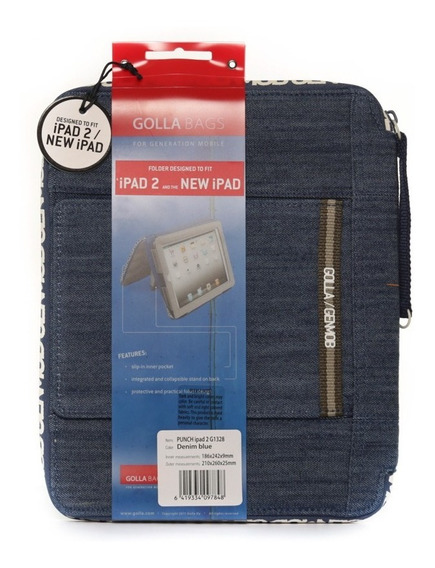 Case Golla Punch G1328 Denim Blue iPad 2 Novo iPad - Azul