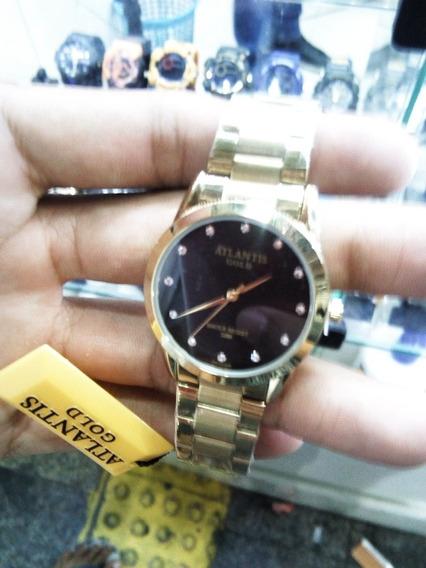 Relógio Feminino Atlantis Gold Lindo Relógio Importado.