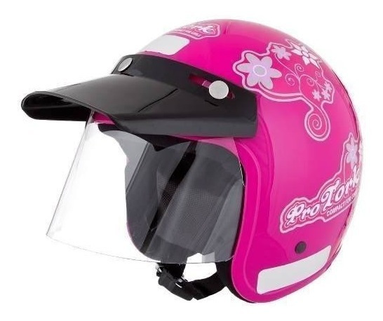 Capacete Moto Aberto Compact For Girls