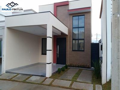 Casa Térrea Nova Com 3 Dormitórios (1 Suíte) No Condomínio Park Real - Ca04121 - 34101497