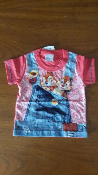 Camiseta Bebê, Malha Pent., Tamanho P
