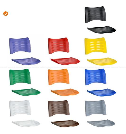 Kit Assento E Encosto Cadeira Iso Fixa E Giratória Coloridas