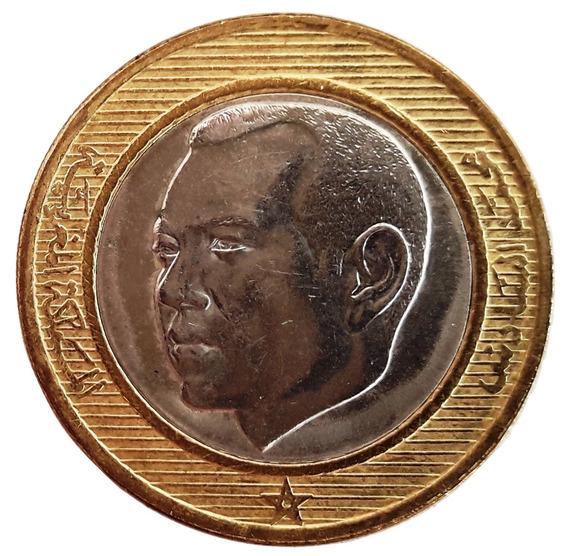 Marruecos Moneda 10 Dirhams Año 2002 Sin Circular Bimetálica