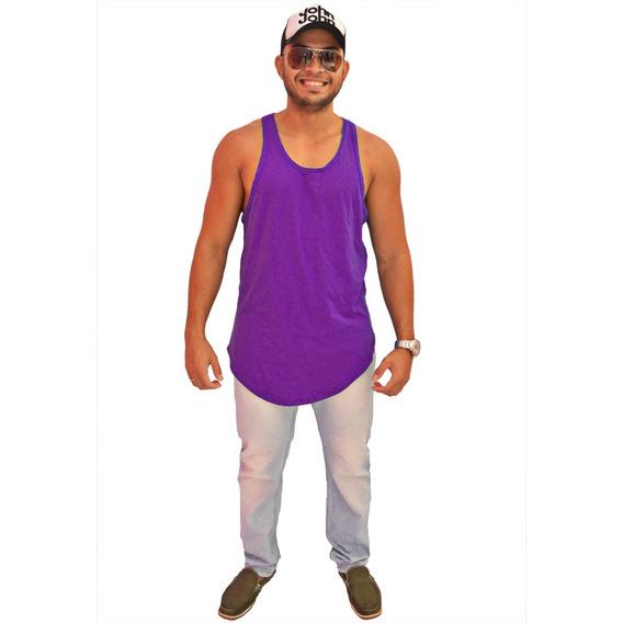 Camiseta Kit 3 Regata Masculina Longline Oversized Swag