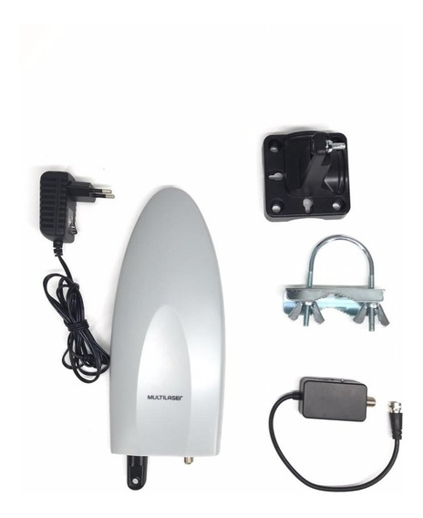 Antena Digital Amplificada P/ Tv 4 Em 1 Interna E Externa
