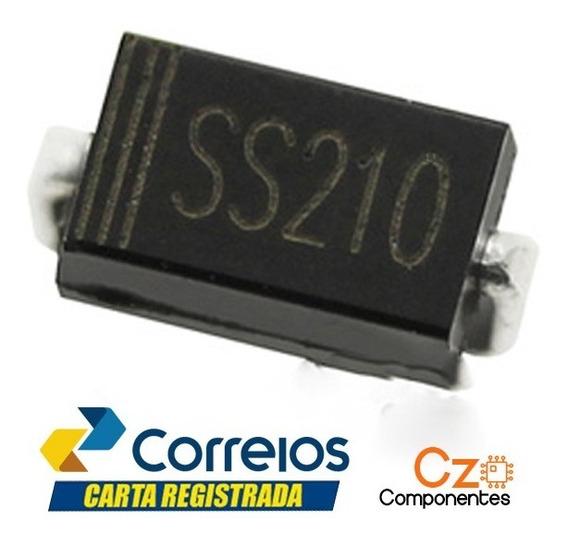 10 Pç Diodo Ss210 - Sr2100 - 2a 100v Sr210 Smd - Sma