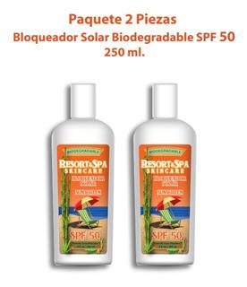 Bloqueador Solar Biodegradable Fps 50 250 Ml. Uso Diario.