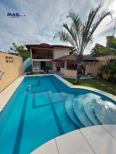 Imagem 1 de 30 de Casa Com 4 Dormitórios À Venda, 250 M² Por R$ 1.500.000,00 - Jardim Albamar - Guarujá/sp - Ca0796