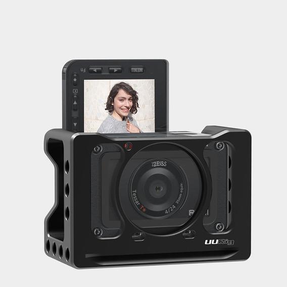 Uuurig Para Sony Rx0 Ii Camera Coelho Gaiola Microfone Vlog