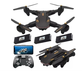 Drone Xs809s Battles Sharks Câmera 2.0mp Hd 3 Baterias 20min