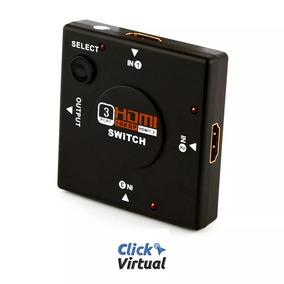 Hub Switch Hdmi 1080p 3 Entradas 1 Saída