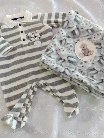 Saída De Maternidade Bebê Menino Ursinho Lindo Be Little