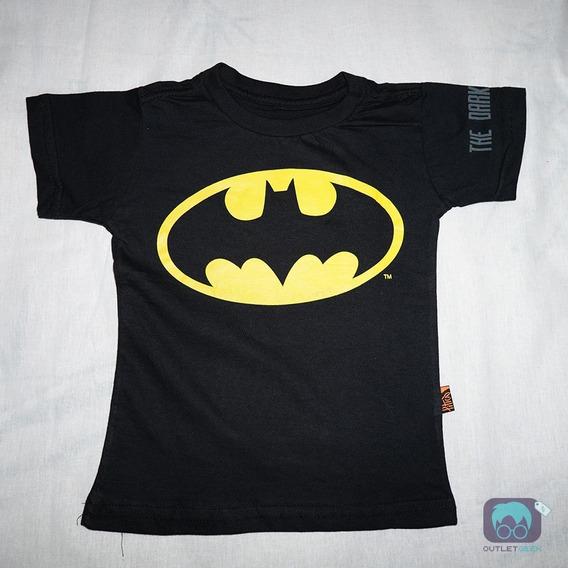 Camiseta Piticas - Infantil E Adulto Batman Herói Dc Comics