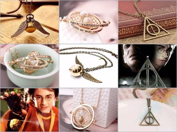 Colares Harry Potter Kit 3 Em 1 Reliquias Coleção Promoção