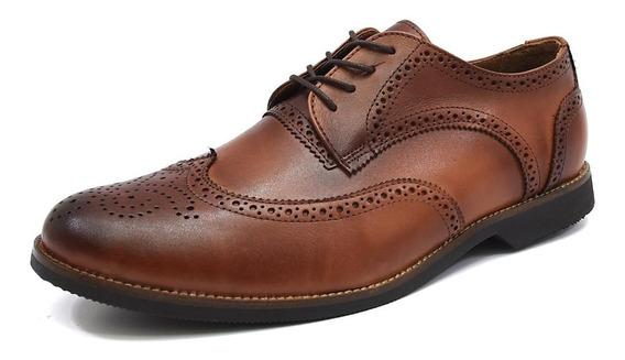 Sapato Oxford Masculino Couro Forro Couro Palmilha Gel