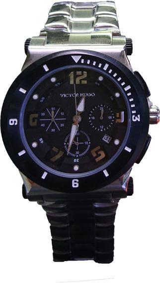 Relógio Victor Hugo Mostrador Preto - Vh10064gss/02m