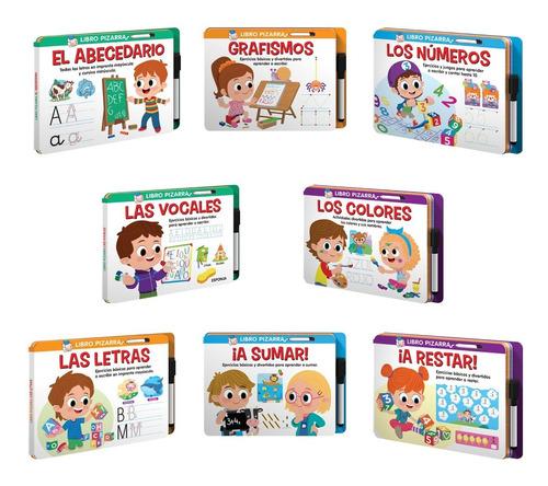 Set 1 De 8 Libros Pizarra Actividades Lúdicas Y Educativas