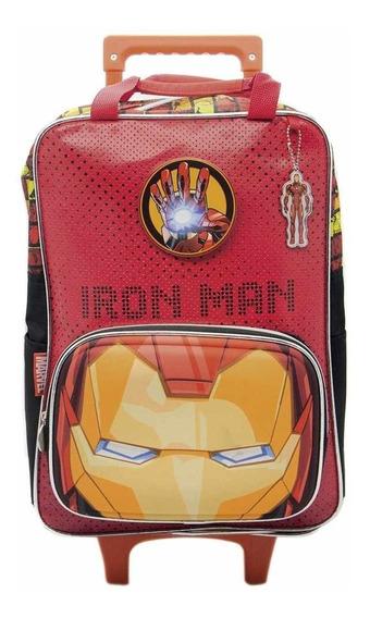 Mochila Avengers Carro Carrito Iron Man 16 Lic. Oficial