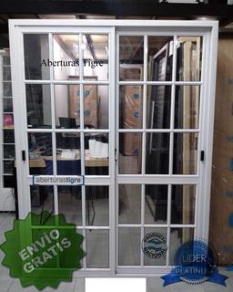 Puerta Ventana Balcon 150x200 Repartido 4mm Envio Gratis