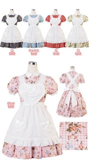 Vestido Lolita Bodyline-l511 (pink) Con Delantal