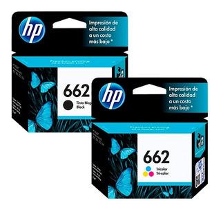 Combo Cartucho Hp 662 Negro + 662 Color Originales En Caja