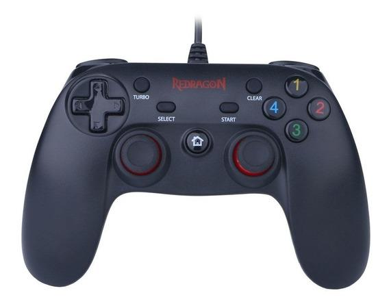 Controle Joypad Gamer Saturn G807 2 Em 1 Para Ps3 E Pc Redragon
