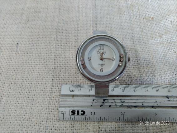 Relógio Feminino Curly Com Pulseira De Metal Quartz Cod 3970
