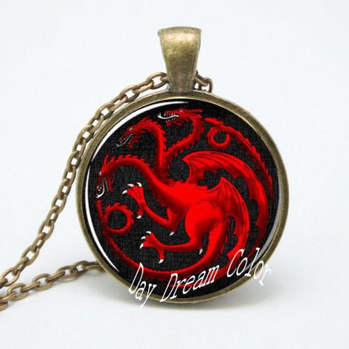 Imagen 1 de 1 de Juego Tronos:collar De Daenerys Targaryen Joyeria Echa Mano