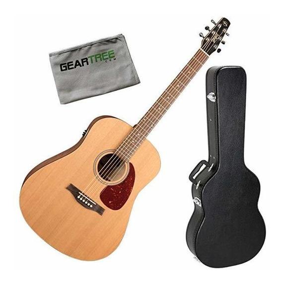 Seagull 46393 S6 Original Qit Electroacúsitca Guitarra Cas ®
