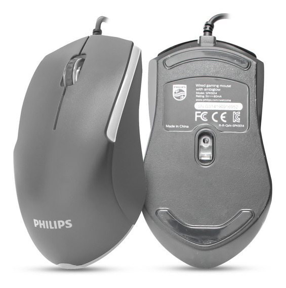 Mouse Gamer Philips Momentum G314 Led Usb Óptico 4 Cores