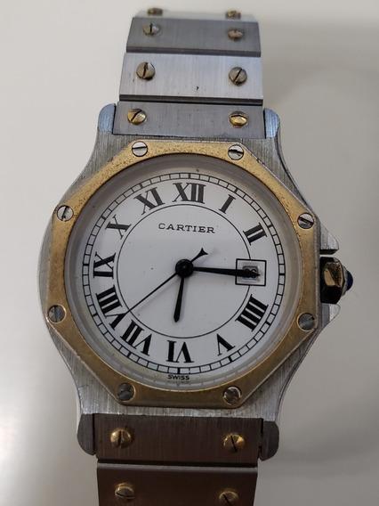Relógio Cartier Santos Ronde (oitavado)