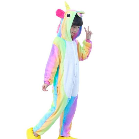 Pijama Mameluco De Unicornio Cosplay Arcoirirs Niño H8118