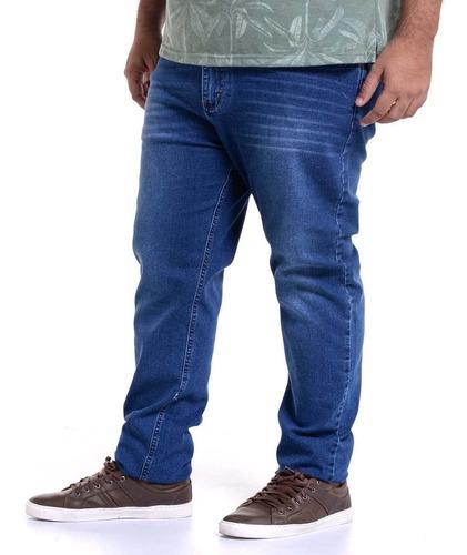 Imagem 1 de 5 de Calça Jeans Lycra Masculina Plus Size Tamanho Grande Pronta Entrega Reforçada Perfeita Promoção Lindas