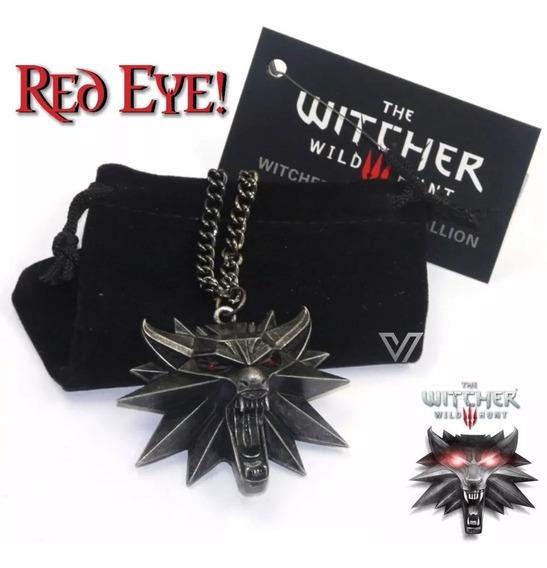 Colar The Witcher 3 Wild Hunt Geralt Rivia Pingente De Lobo