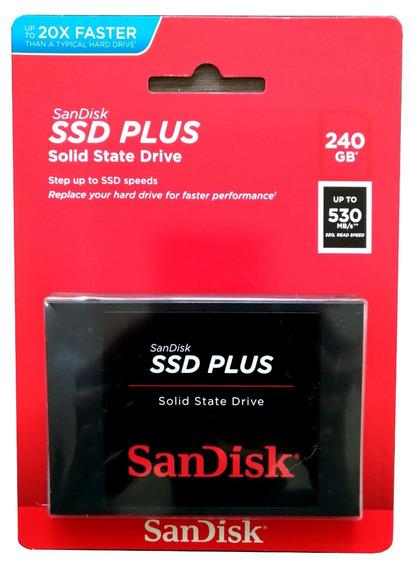 Hd Ssd Sandisk Plus® 240gb 530mb/s Sata 3 6gbit/s - Original