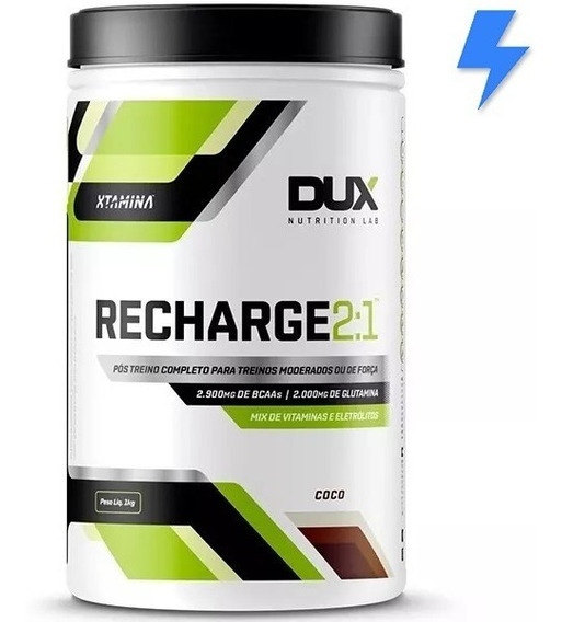 Recharge 2:1 ( 2800mg Bcaa ) Pós Treino 1kg - Dux Nutrition