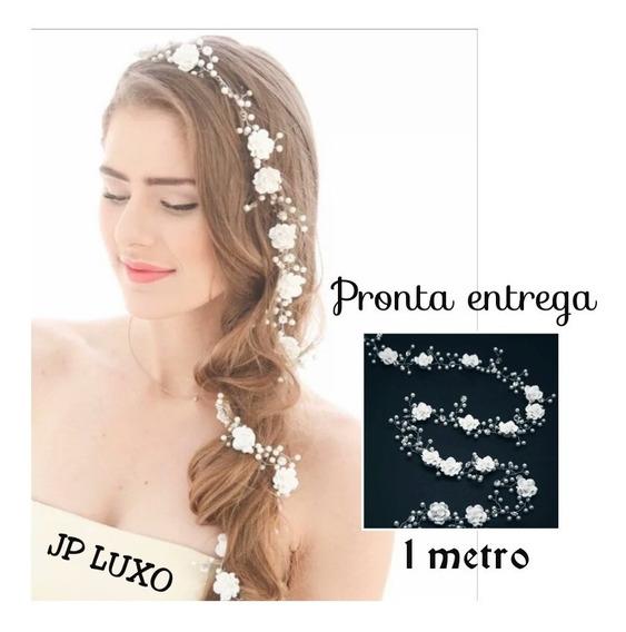 Acessórios Noiva Princesa Flor Cabelo Dama Madrinha