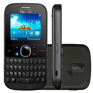 Celular Básico Alcatel 3075m,3 G, Roteador, Wi-fi Hotspot, Anatel, Rádio, Vibração, Pequeno, Desloqueado, Novo Na Caixa