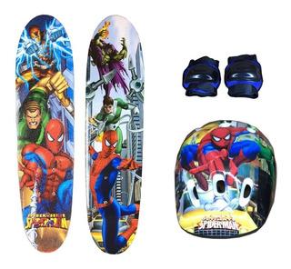 Skate + Kit Segurança Homem Aranha!!