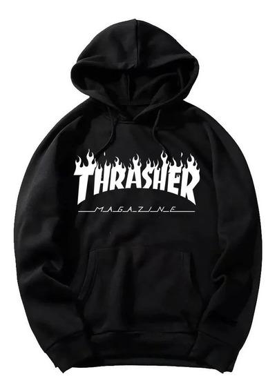 Moletom Thrasher Magazine Flame Skate Blusa