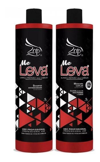 Kit Escova Progressiva Me Leva Shampoo E Máscara 1l - Zap